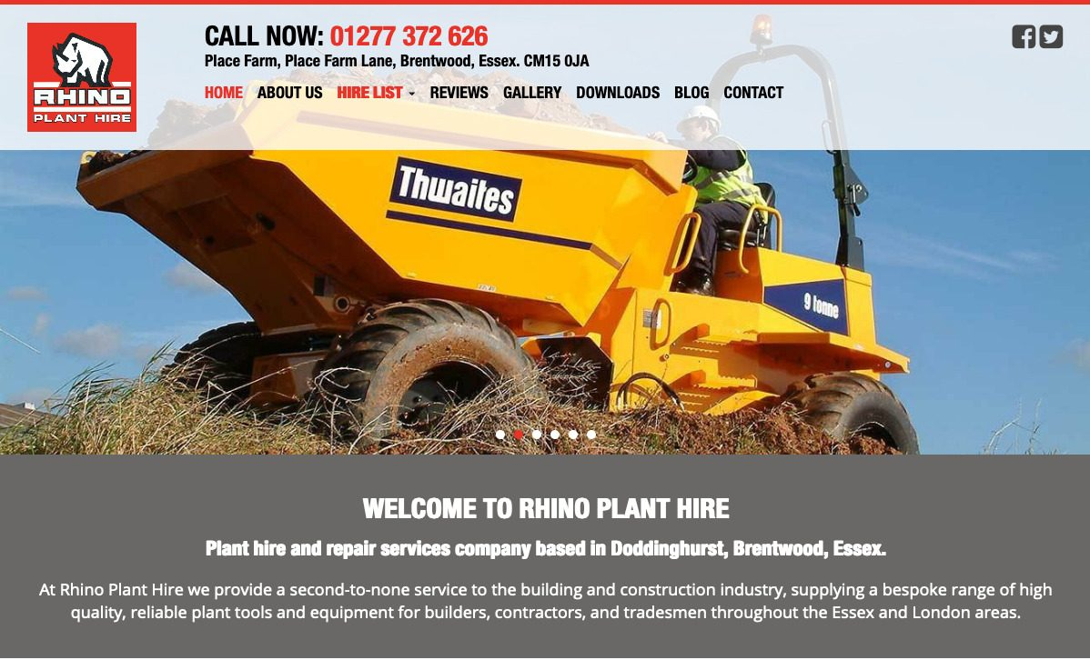 Rhinos Plant Hire